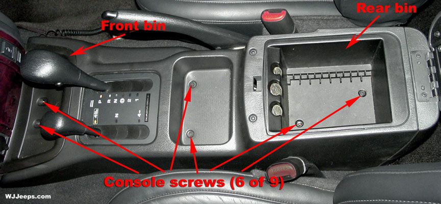 2001 Jeep Grand Cherokee Laredo Interior Center Plastic
