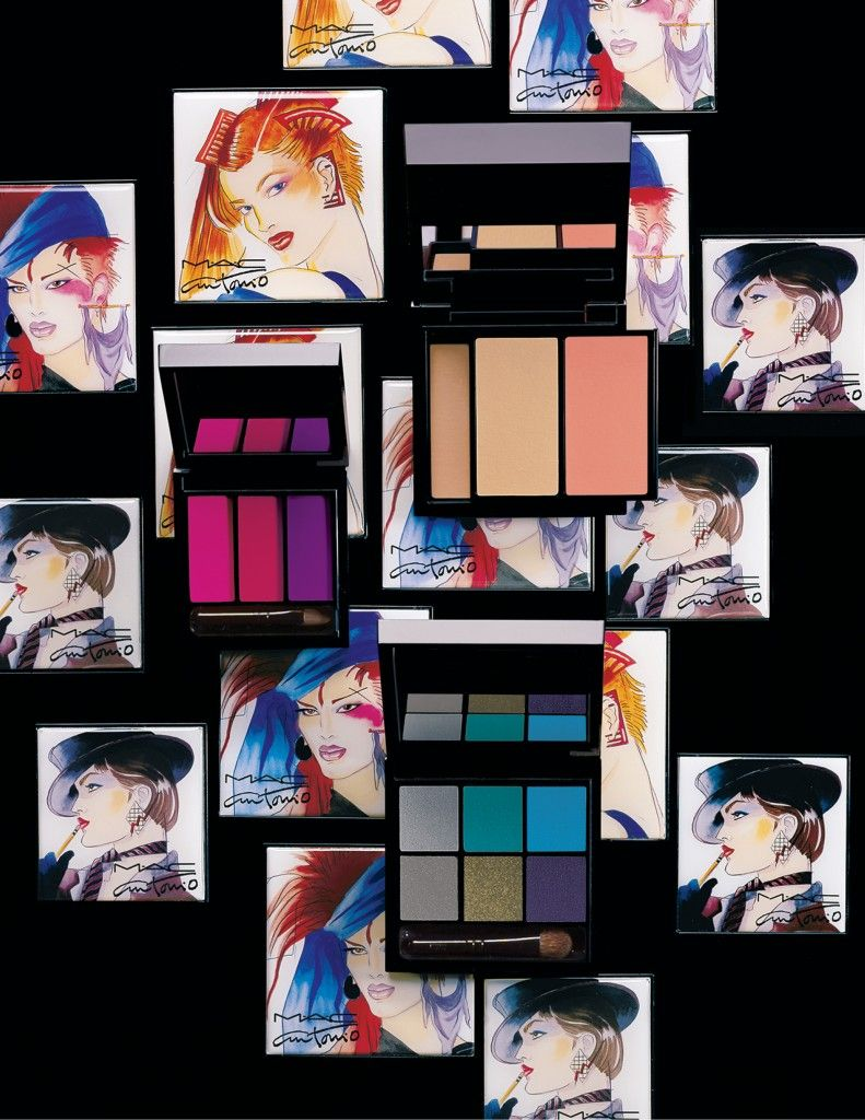 Makeup Preview: MAC Fashion Illustrator Antonio Lopez Fall 2013 Collection: Face, Eyes, Lip Palettes, Makeup Brushes, Bags, Mirror