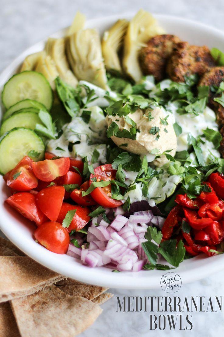 Mediterranean Bowl Healthy Vegan Bowls Lunch Salad