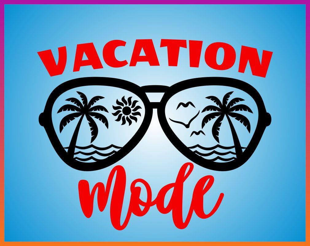 Summer Svg Vacation Mode Svg Beach Palm Spring Monogram Sunglasses Svg Files For Cricut Monogram Svg Silhouette I Vacation Mode Silhouette Iron On Transfer Svg
