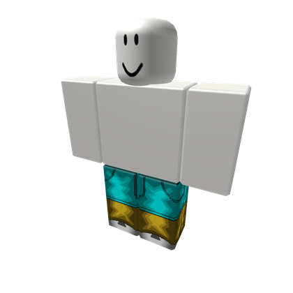 Modern Two Tone Cyan And Yellow Jeans Roblox Yellow Jeans Two