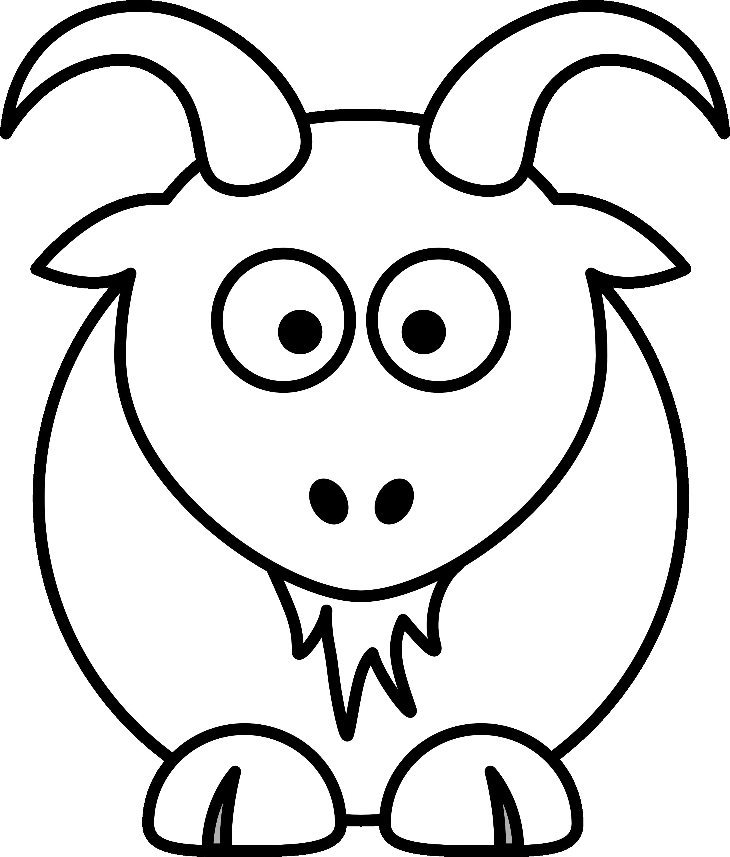 Goat Clipart Black And White Ideas