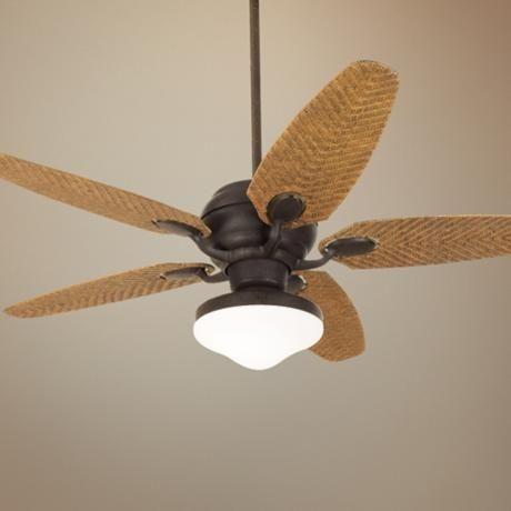 52 Casa Optima Honey Rattan Ceiling Fan Lampsplus Com Ceiling Fan Fan Lamp Tropical Ceiling Fans
