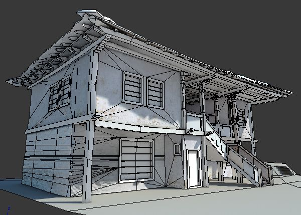 Old House Game Model On Behance House Games Old House House