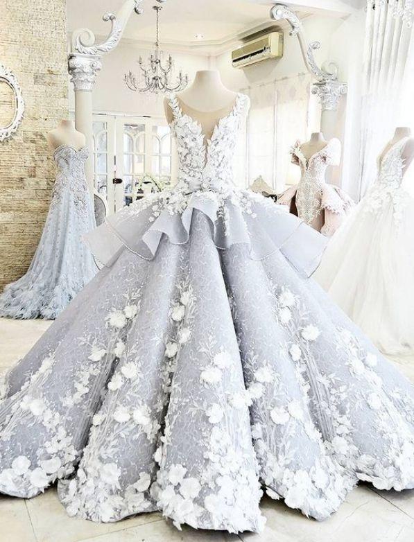Hot Sale Grey Prom Dresses, Long Prom Dresses, Long Grey Prom ...