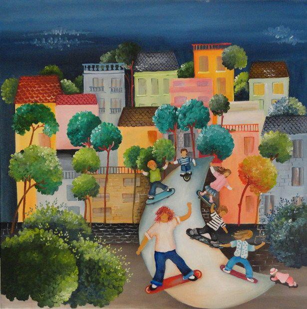 pilar sala-阿根廷女畫家-皮拉爾薩拉 , 她使用的不同色調,與和諧起源的美麗和精細的輪廓相結合。。。 - ☆平平.淡淡.也是真☆  - ☆☆milk 平平。淡淡。也是真 ☆☆