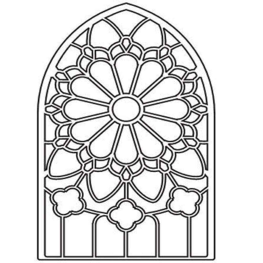 Coloriage vitrail vitrail pinterest vitraux coloriage et art gothique - Vitraux a colorier ...