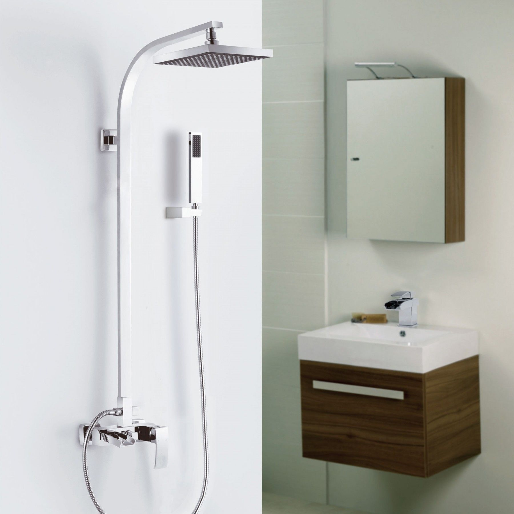 COLIN Square 3-Way Outlet Single Lever Exposed Shower Mixer