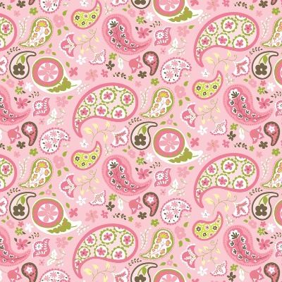 Blend Fabrics - Flower Paisley Pink - Animal Parade - Cotton