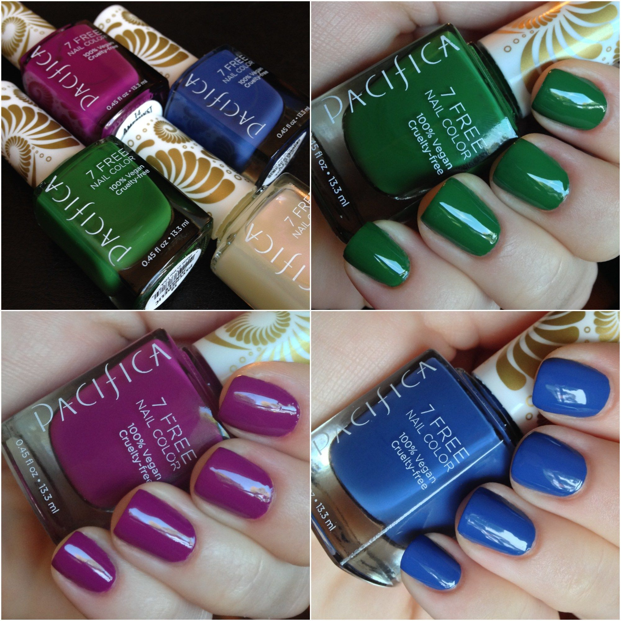 Pacifica 7 Free Nail Polish | Swatch and Makeup