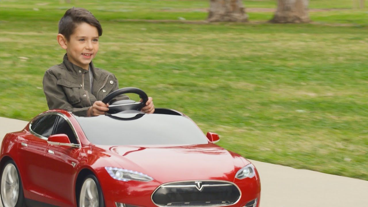 Tesla Model S for Kids by Radio Flyer boasts the exhilarating ...