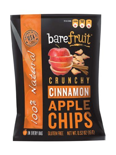 Bare Fruit Natural, Gluten Free Crunchy Baked Apple Chips, Cinnamon, 0.53-Ounce Bags (Pack of 24) Bare Fruit,http://www.amazon.com/dp/B007TG65LQ/ref=cm_sw_r_pi_dp_4oh2sb03X8QQAGHM