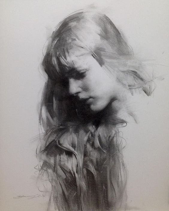 Black and White Charcoal Portraits | Portrait drawing
