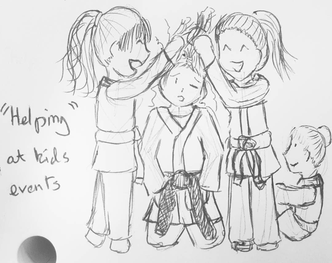 This Weekend I Was Helping Out At My Judo Club S Club Championships I Had A Very Messy Bun Doodle Doodles Sketch Doodles Sketch Book Drawing S