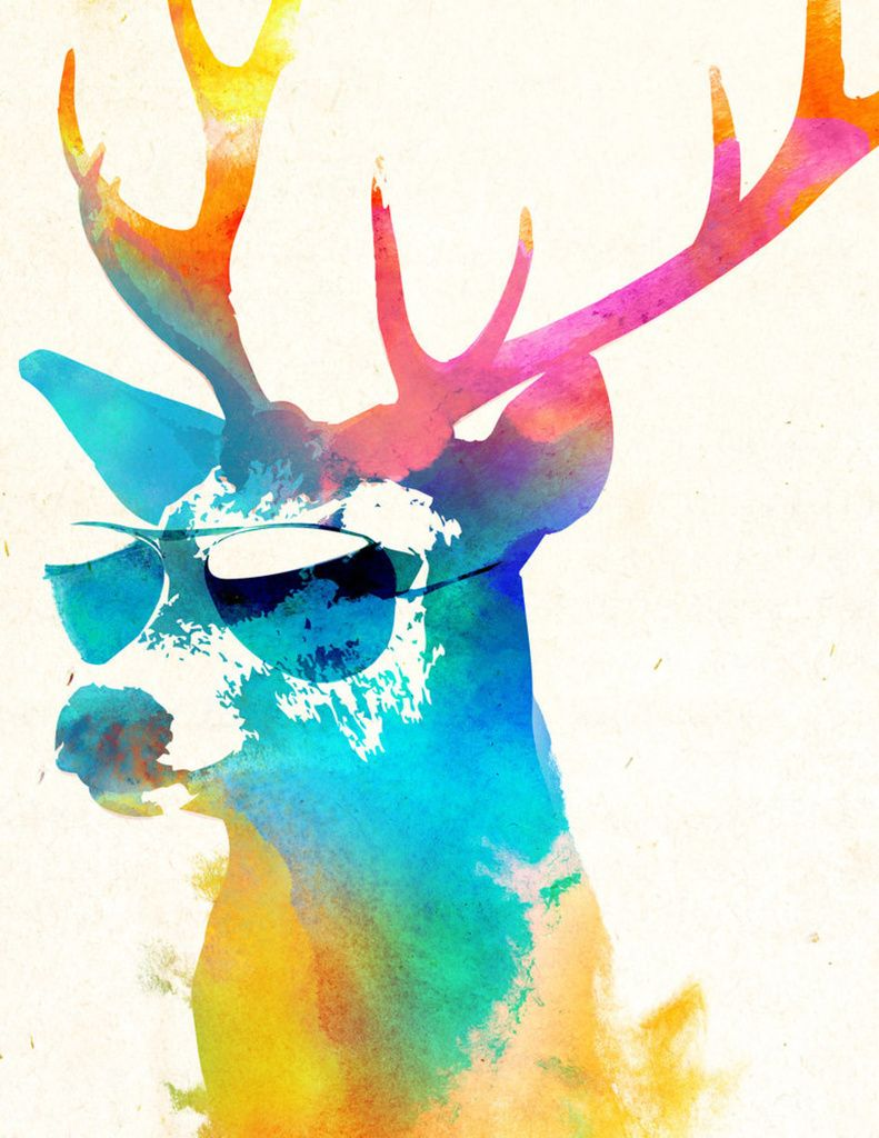 Sunny Stag Art Print By Robert Farkas Numbered Edition From 24 9 Curioos In 2021 Art Deer Wall Decal Art Prints