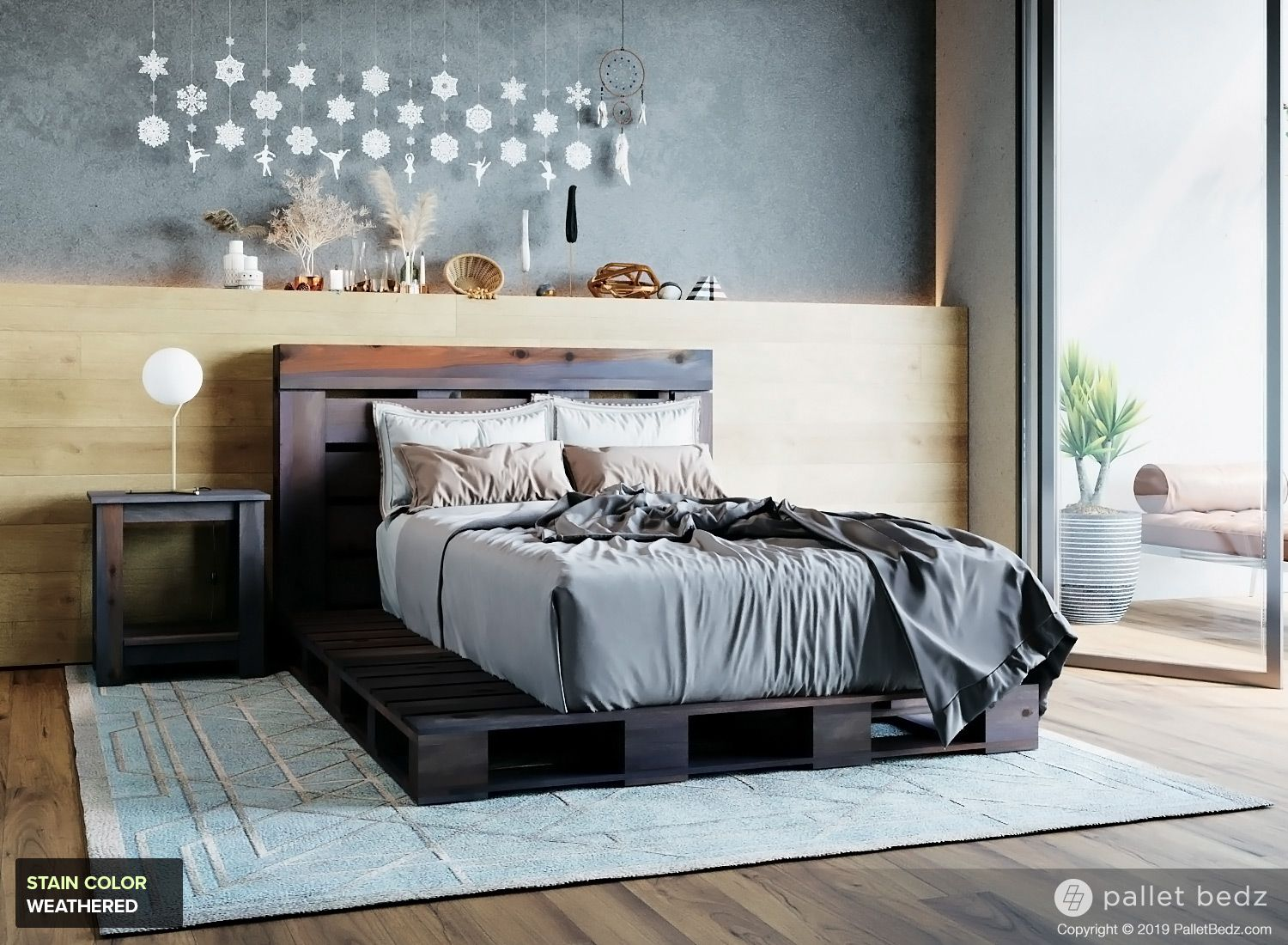 The Twin Pallet Bed in 2020 | Bed weather, Pallet beds ...