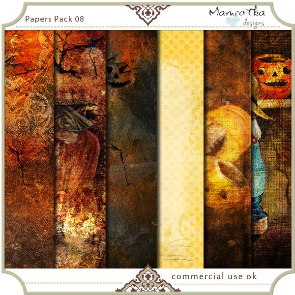 Papers Pack 08 by Mamrotka designs $4.50  $3.15 Save: 30% off