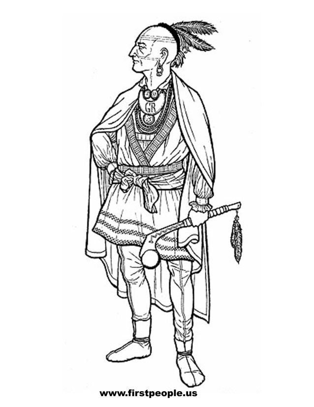 coloring pages indian chief-#20