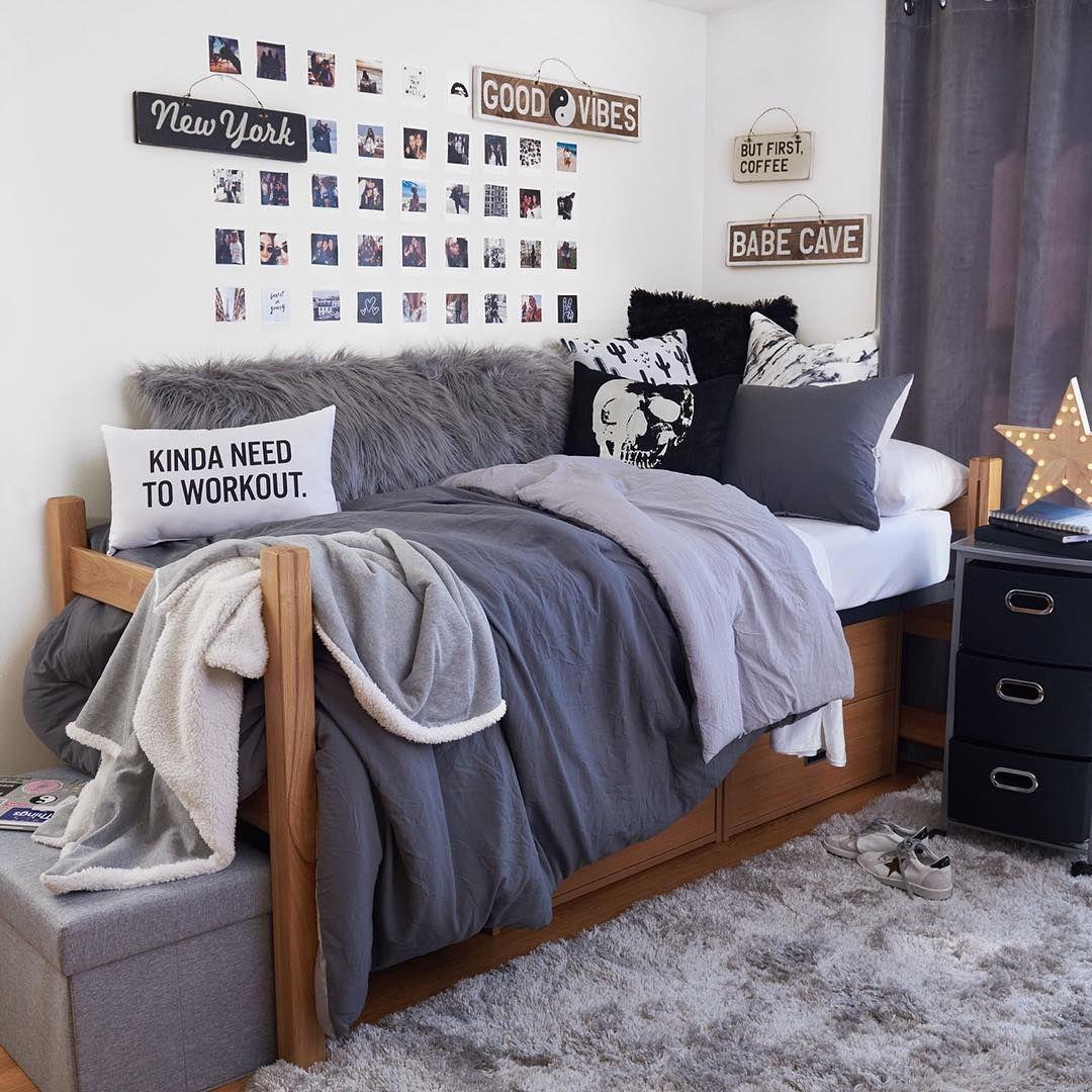 Good And Grey Vibes Regram Via Dormify Dorm Room Designs College Dorm Room Decor Dorm Room Inspiration