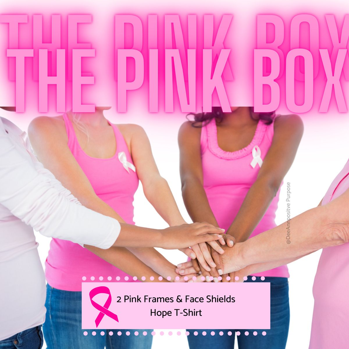 Inside the Think Pink Box, you will get t-shirt and 2 shields... TO LEARN MORE HEAD TO THE LINK BELOW #breastcancerawareness #thinkpink #october #cancerawareness