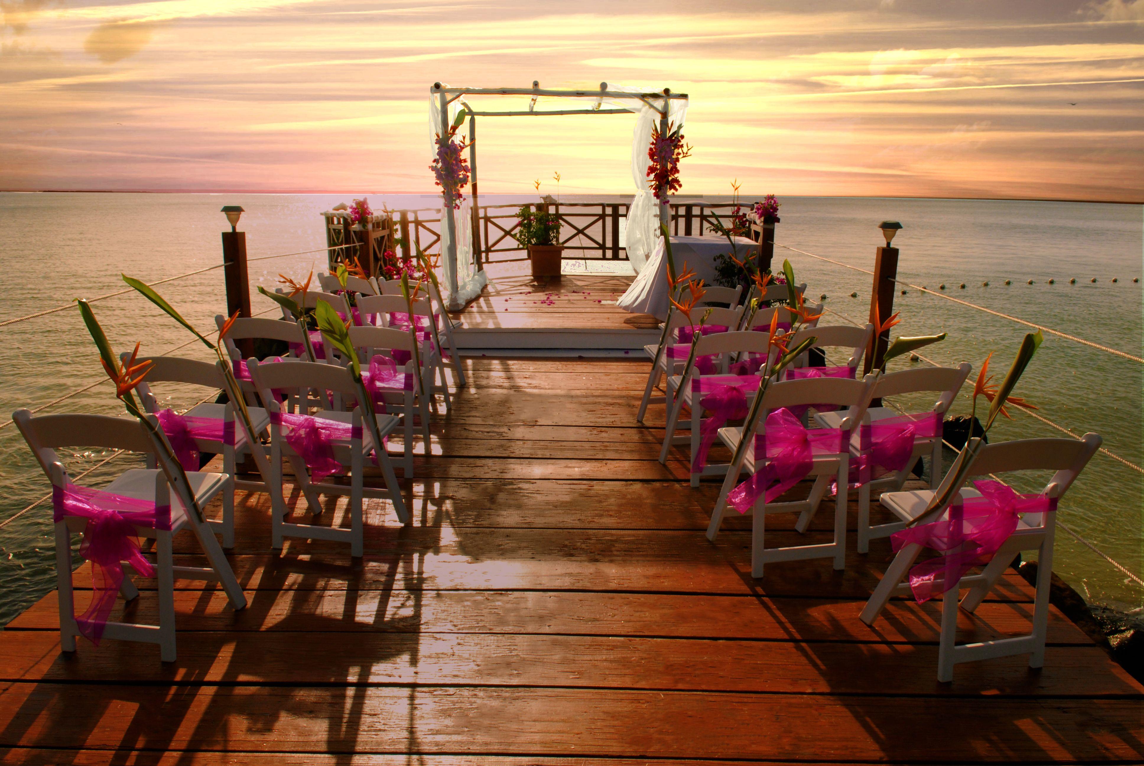 Sunset boardwalk at Calabash Cove Love, Elevated Saint