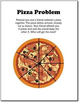 Free Pizza Fraction Fun Equivalent Fractions Med Billeder