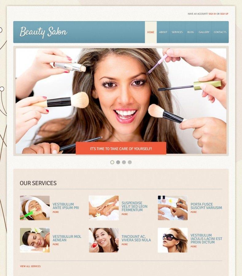 makeup artist website design