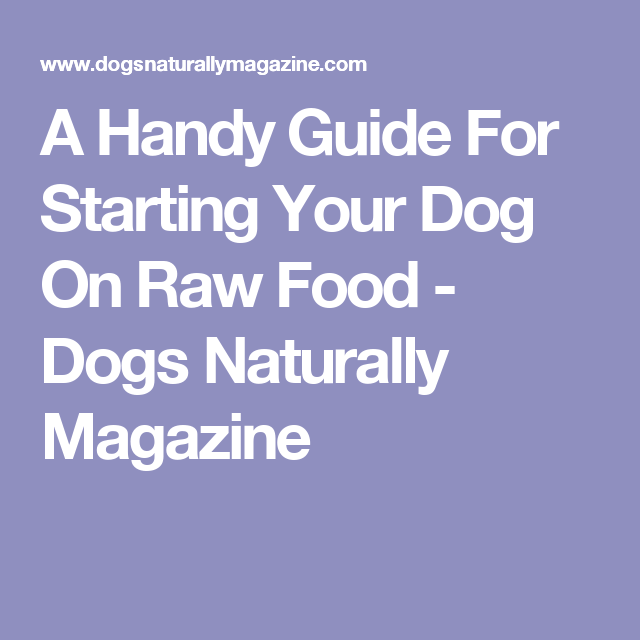 A Handy Guide For Starting Your Dog On Raw Food - Dogs Naturally Magazine