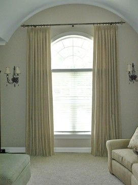 Pictures Of Window Treatments For Rounded Windows Arched Top Traditional