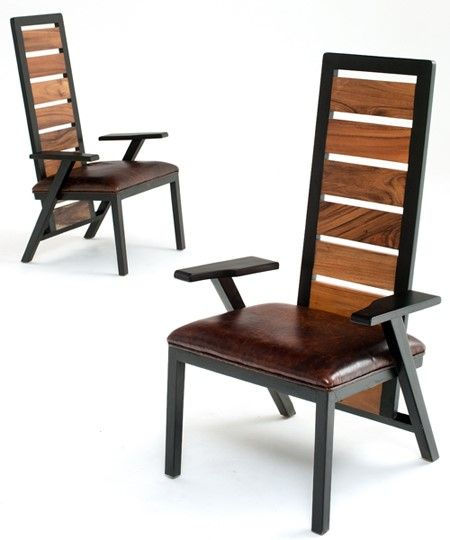 Rustic Contemporary Chairs Urban Dining Chairs Reclaimed