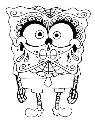 yucca flats n m wenchkin s coloring pages spongebob calacapants