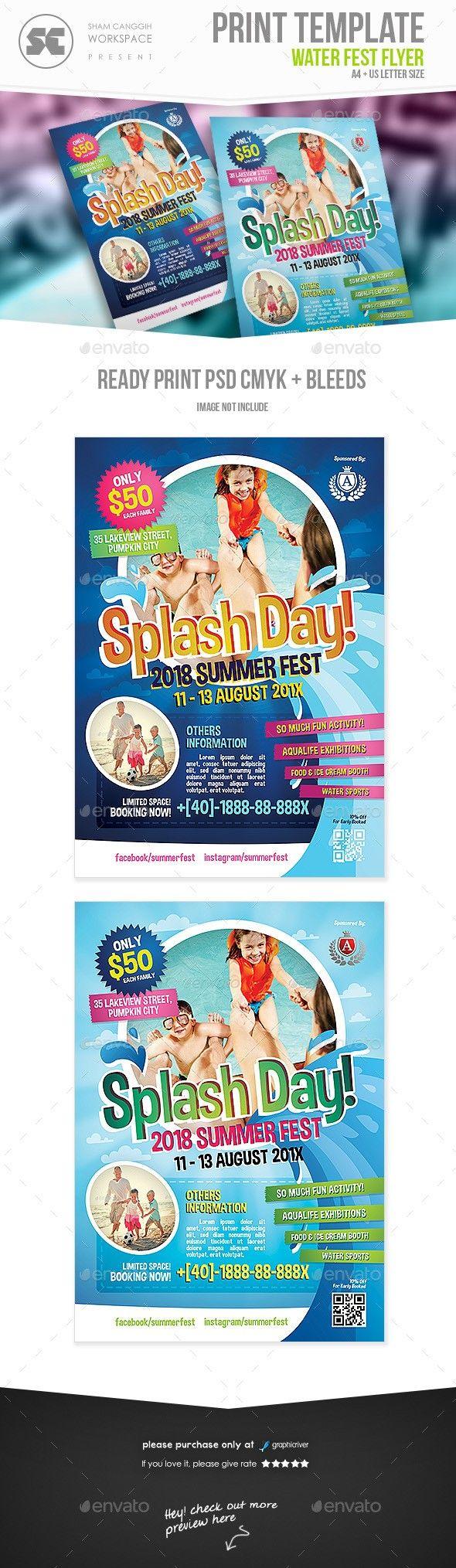 Water Fest Flyer | Pinterest | Kindergarten Party, Flyer Template And  Brochures