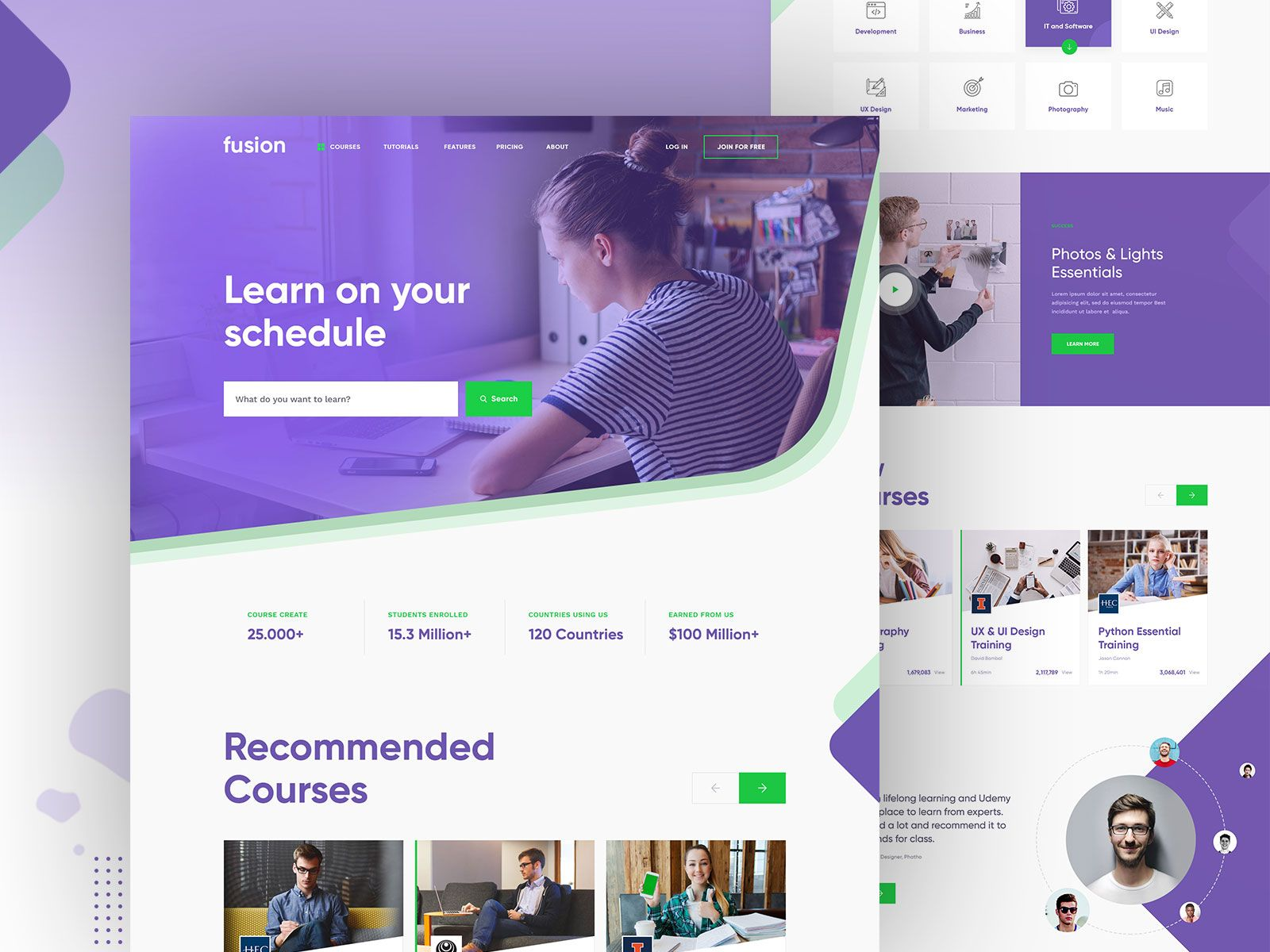 Fusion Online Learning Platform Learning Website Design Online Learning Web Design Course