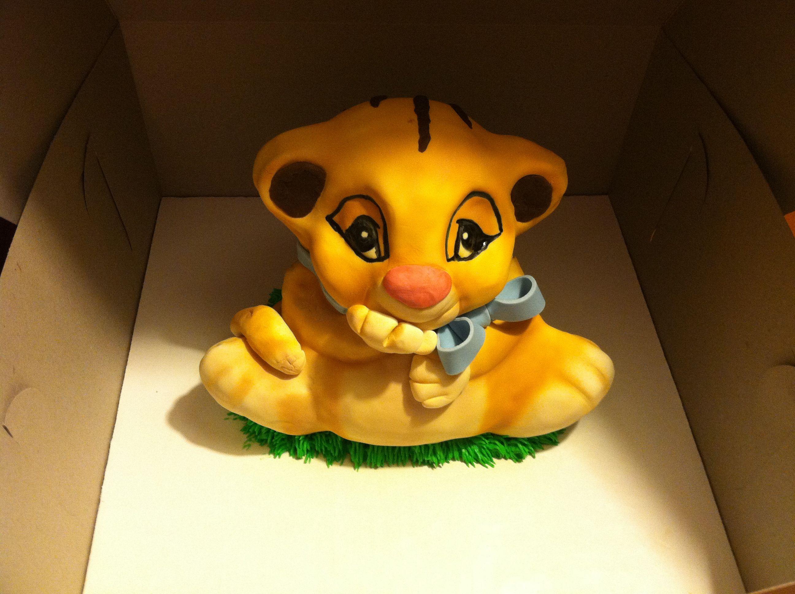 Pumba Cake: Baby Simba Shower Cake