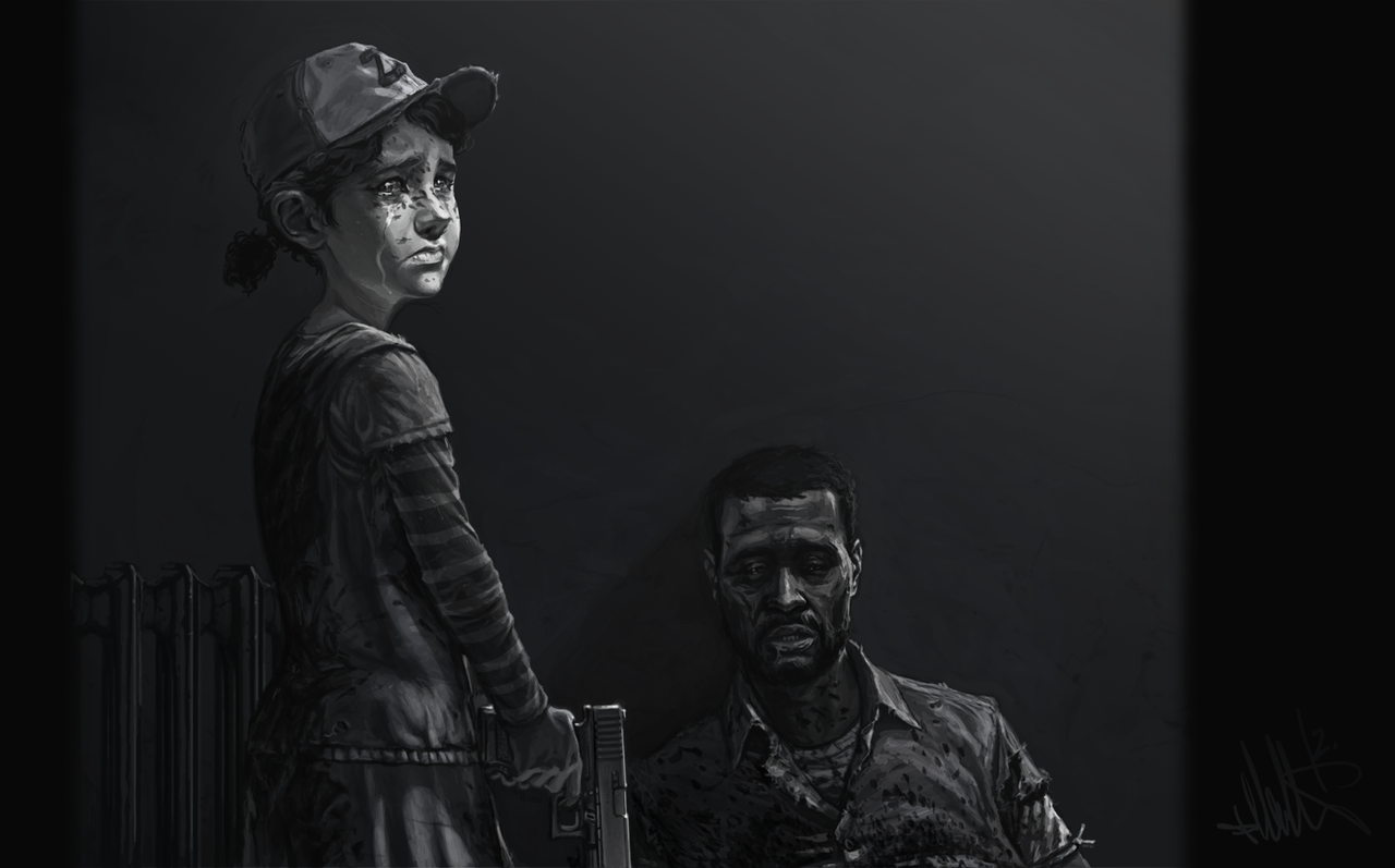 The Walking Dead Game...I see pictures of the ending and I still start to tear up
