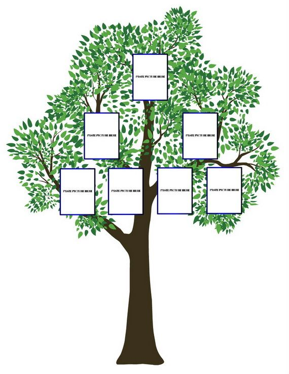 Family Tree Craft Template Ideas  Family Reunion