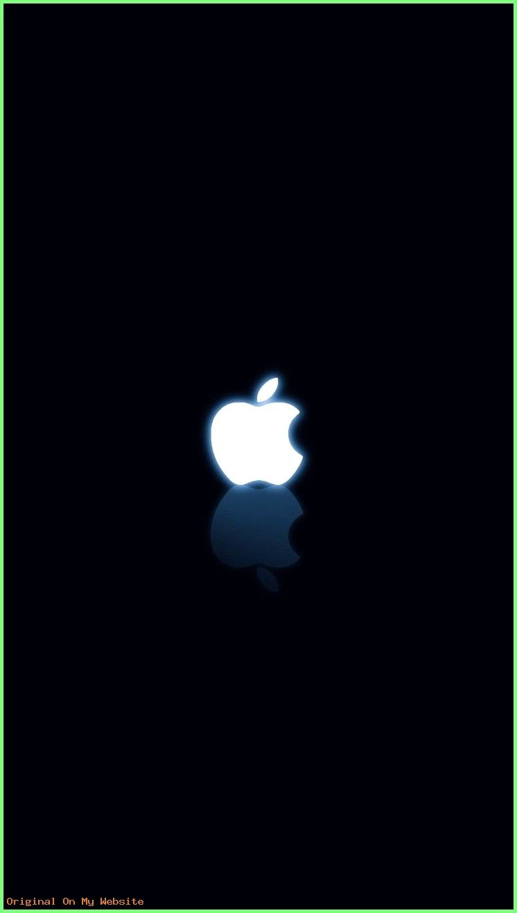 Wallpaper Iphone Black And White Apple Logo Iphone6