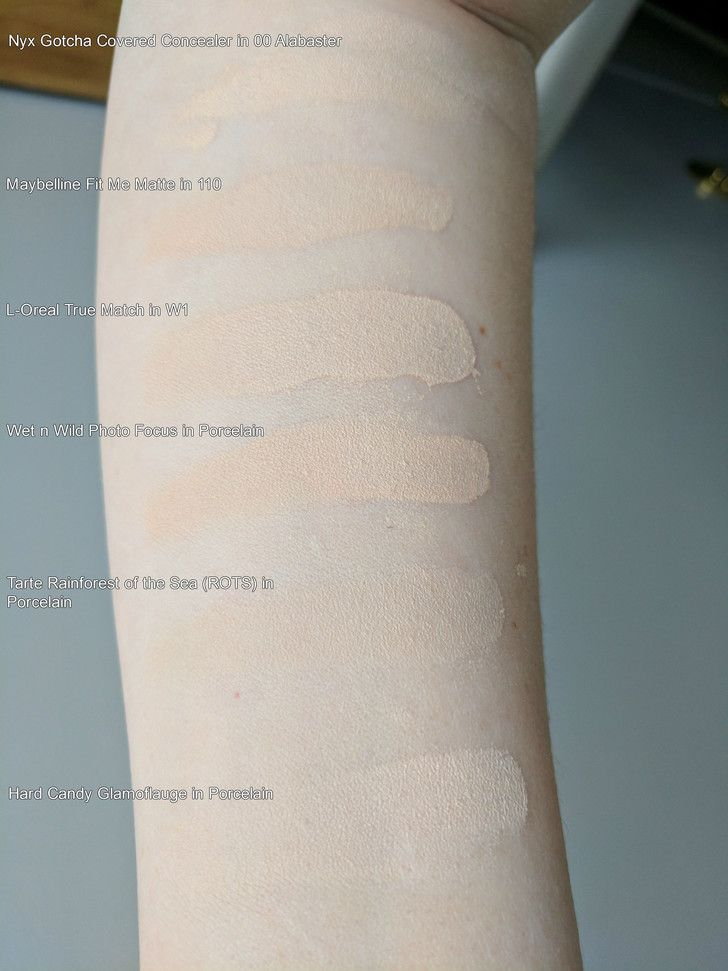 Foundation Swatches Foundation For Pale Skin Pale