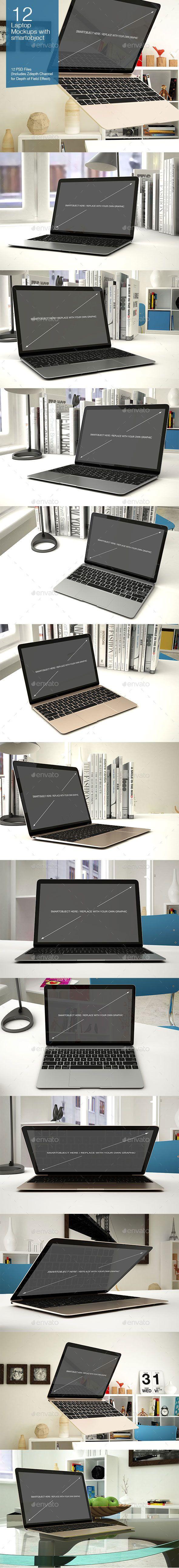 Laptop Mockup 12 Poses #design Download: http://graphicriver.net/item/laptop-mockup-12-poses/13389840?ref=ksioks