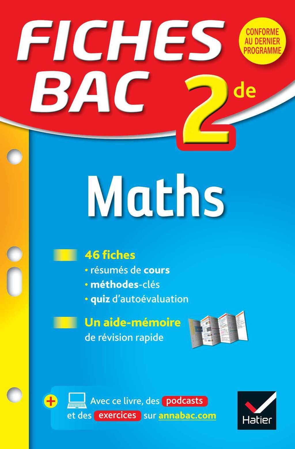Fiches Bac Maths 2de Ebook