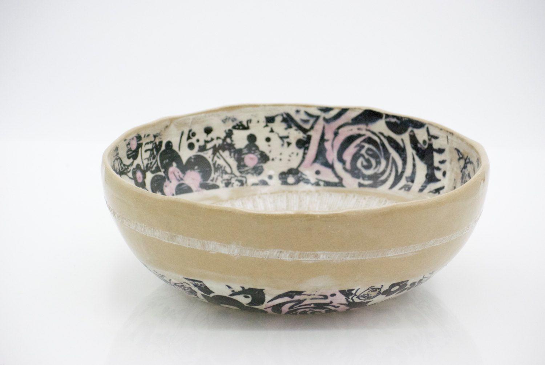 Unique Decorative Bowls Large Serving Bowl Unique Handmade Pottery Ceramic Serving Bowl