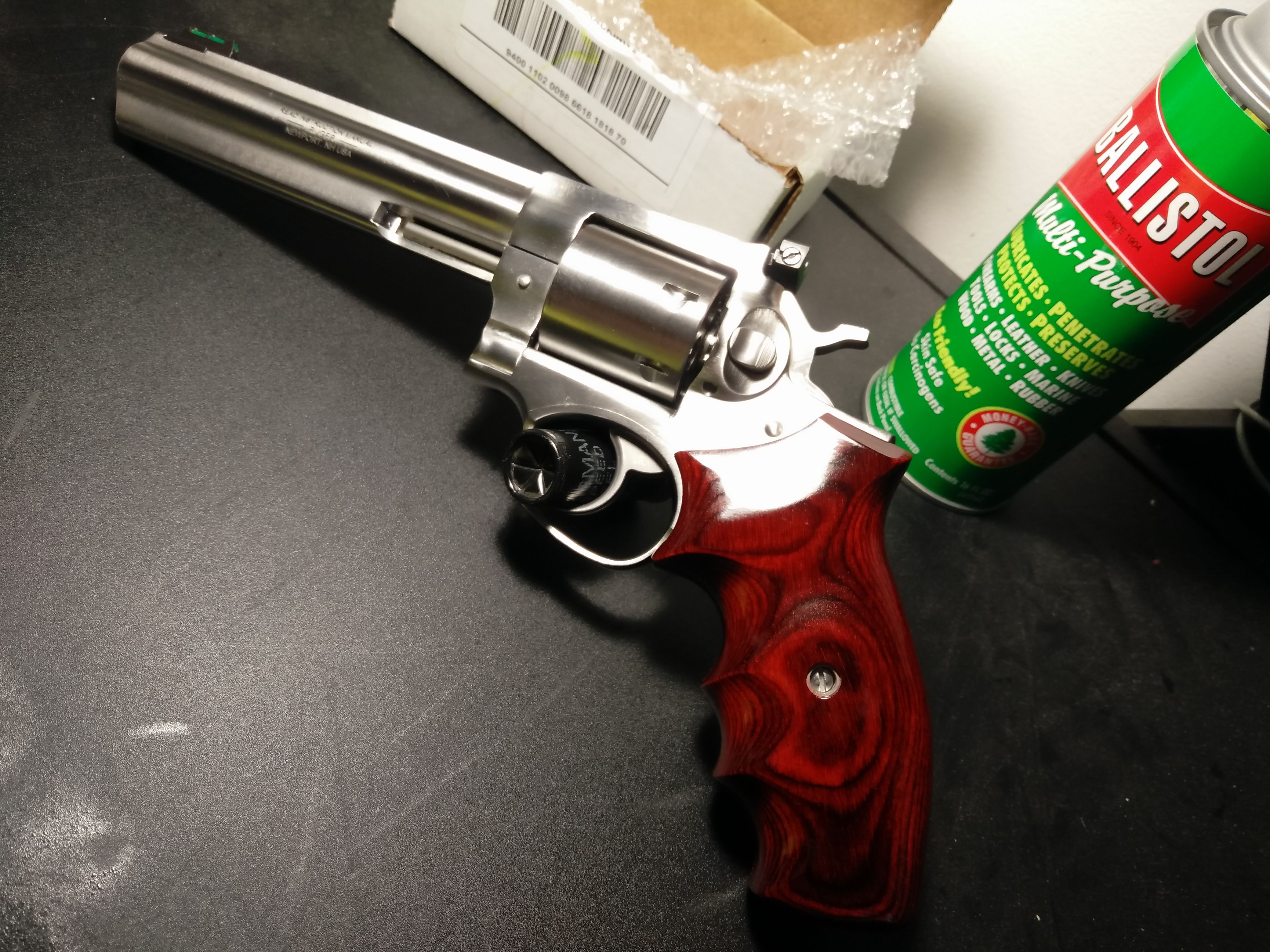 Another of angle my Talo Edition Ruger GP100 with Badger Custom