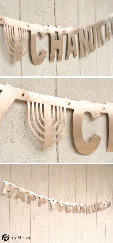 Upcycled Hanukkah Banner