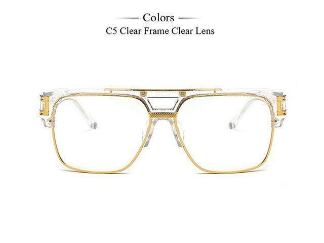 fa8292e24c39e Fashion New Women Eyeglasses Frame Brand Designer Retro Semi-Rimless Men  Glasses Clear Lens lunette de vue MA041