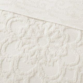 Madison Park 3 Piece Virginia Cotton Chenille Medallion