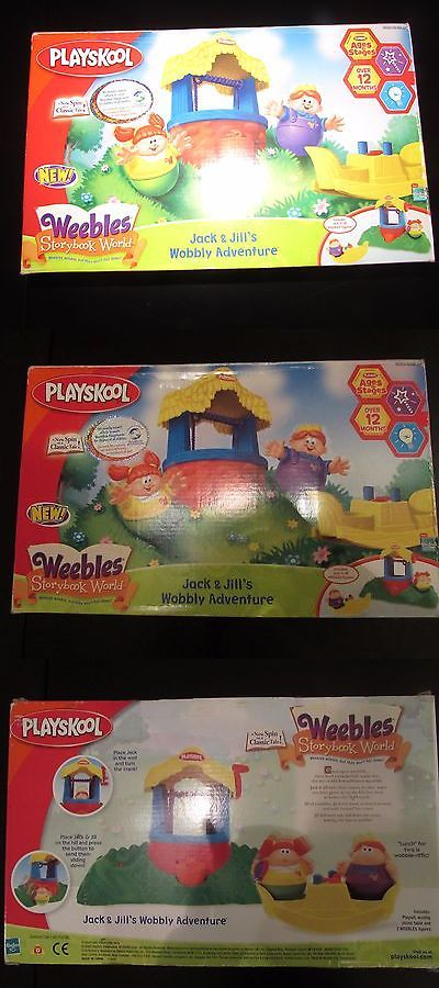 Playskool Weebles Musical Treehouse Part - 46: Playskool 2576: Vintage Playskool Weebles Jack And Jill Wobbly Adventure  Storybook Set Rare New -