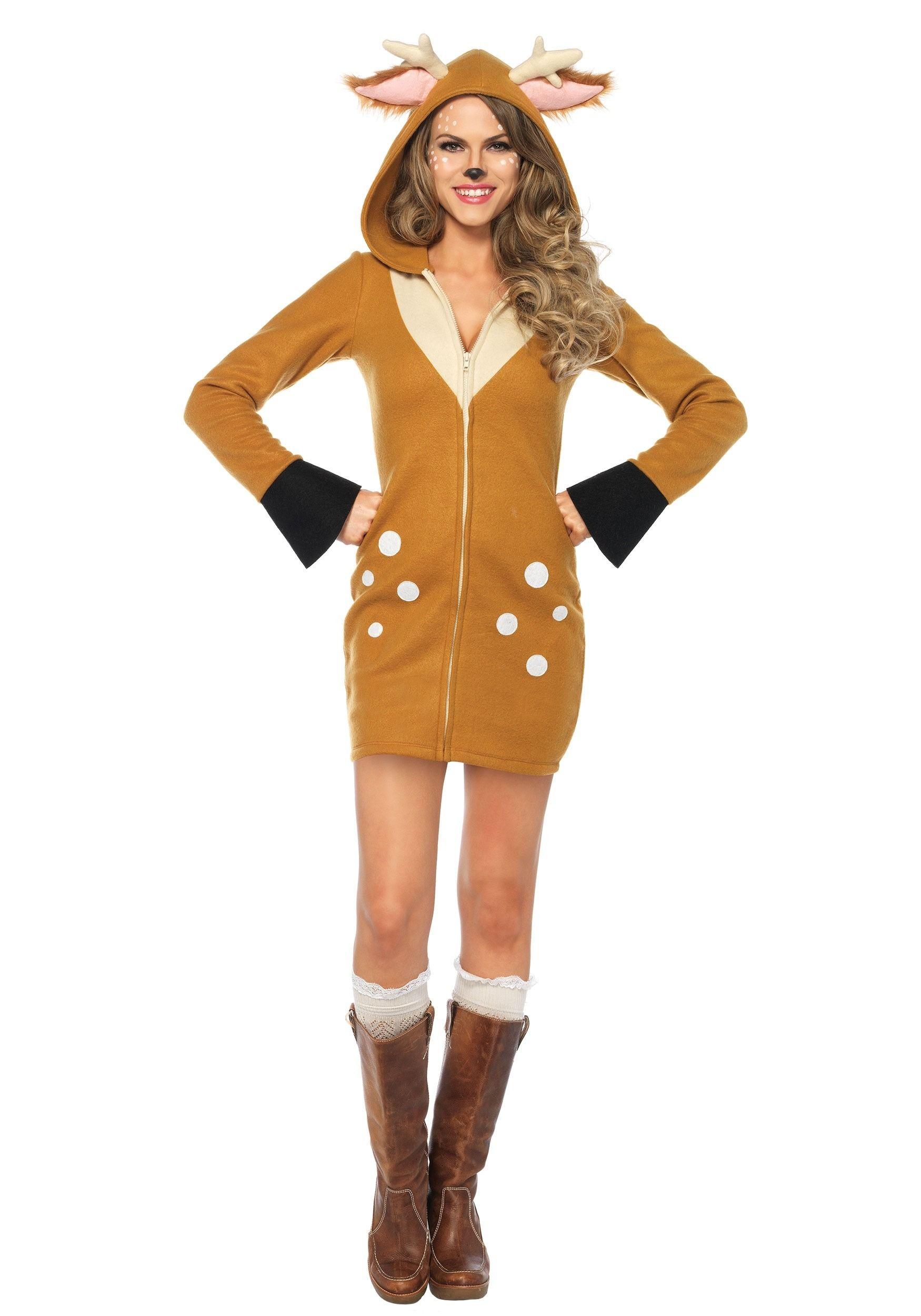 Womens cozy fawn costume halloween costume ideas pinterest womens cozy fawn costume solutioingenieria Choice Image
