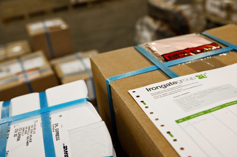 Printed, picked, packed ready for delivery.
