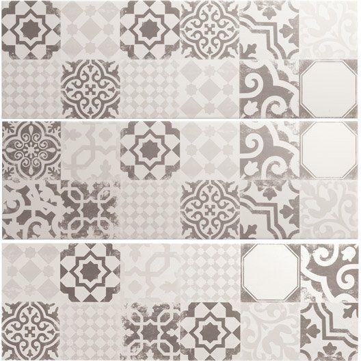 Carrelage Mural Decor Tadelak Premium En Faience Mix Blanc Gris 25