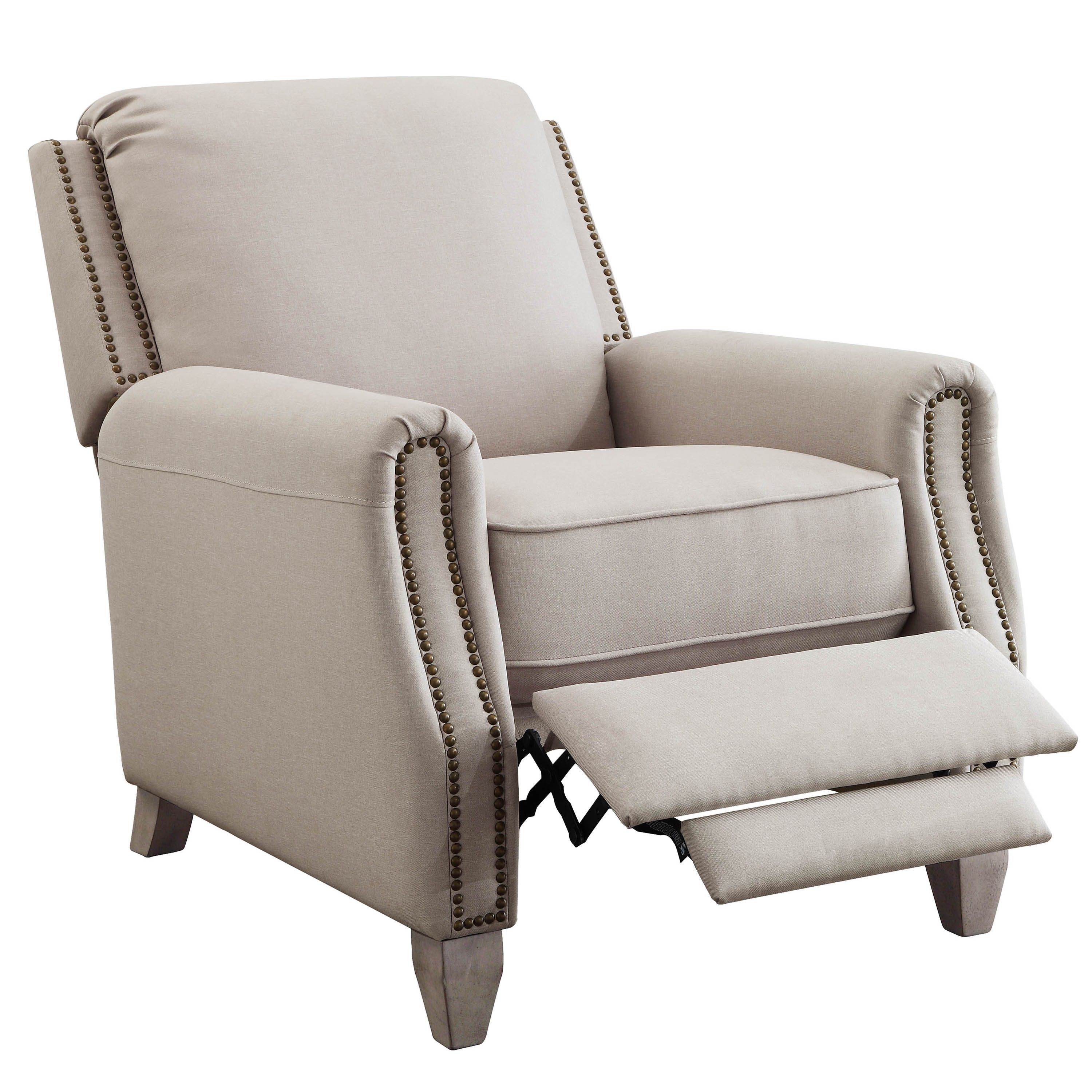 Better Homes & Gardens Pushback Recliner, Taupe Fabric
